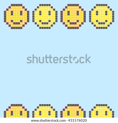 Smile Icon Paper Note illustration - stock vector