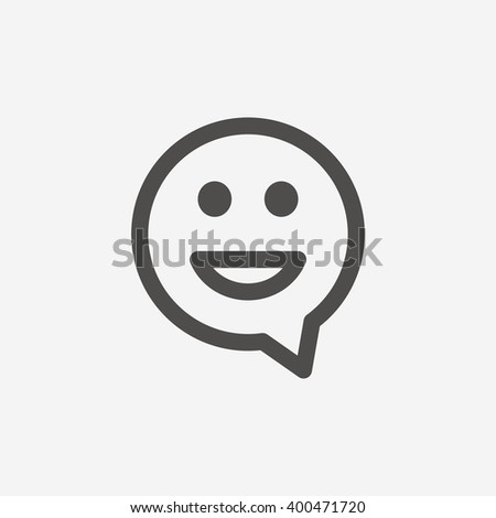 Smile icon sign. Smile icon flat design. Smile icon for app. Smile icon art. Smile icon for logo. Smile icon vector. Smile icon illustration. Flat icon on white background. Vector - stock vector
