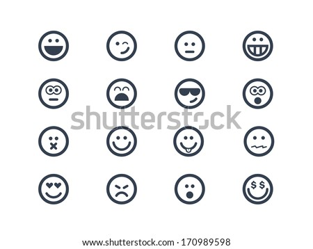 Smile icons - stock vector