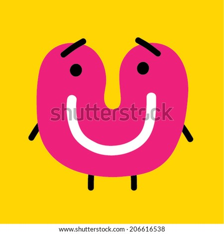 Smiley character - stock vector