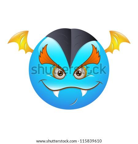 Smiley Emoticons Face Vector - Bat - stock vector