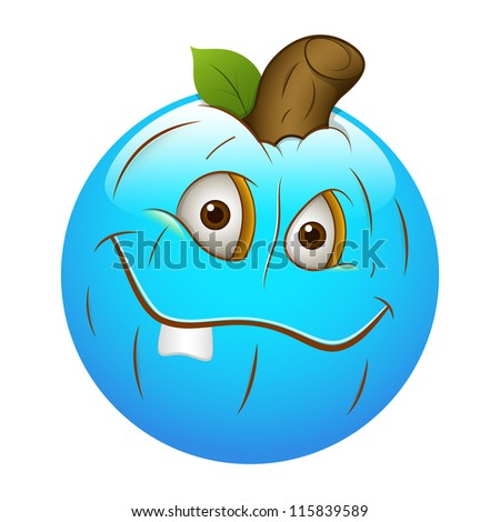 Smiley Emoticons Face Vector - Pumpkin