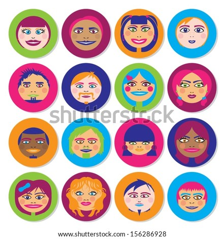 Smiley Faces - Coloured Icons