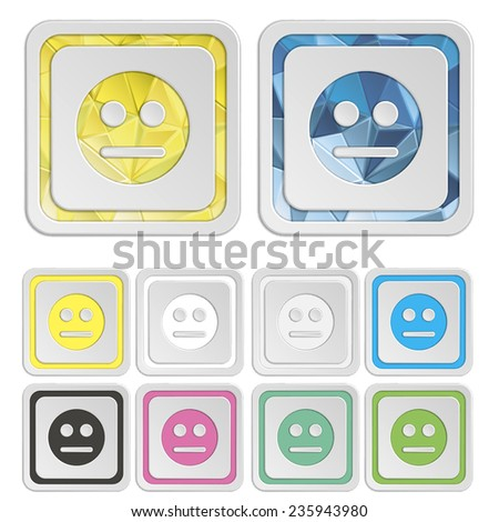 Smiley icons & symbols. Face colorful buttons. Vector illustration. It can be used for the web sites and mobiles. - stock vector