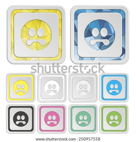 Smiley icons & symbols. Face colorful buttons. Vector illustration. It can be used for the web sites and mobiles - stock vector