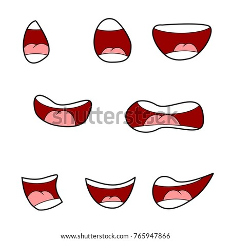 Smiley Mouth Character Your Scenes Template Stock Photo (Photo ...