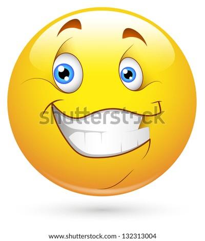 Smiley Vector Illustration - Happy Face - stock vector