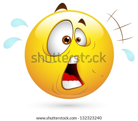 Smiley Vector Illustration - Surprised - stock vector