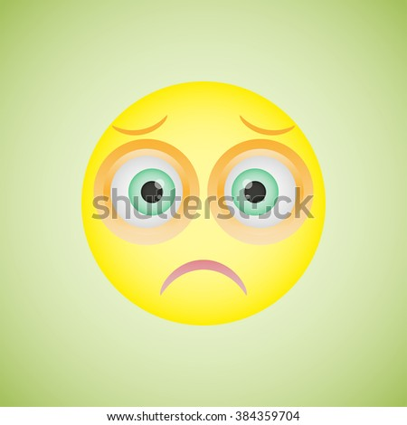Smiley with sad emotion - stock vector