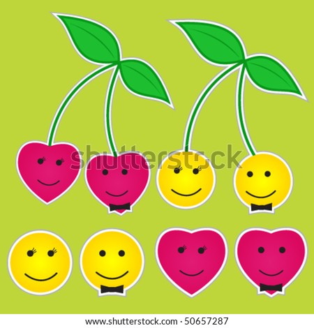 Smileys design set - stock vector