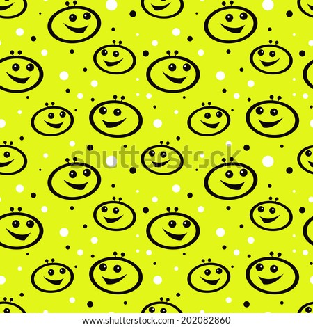 smiling aliens ornament - stock vector