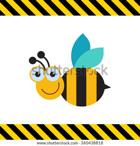 Smiling bee icon
