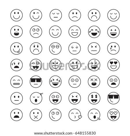 Stock Vector Smile Set Vector