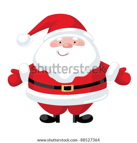 Smiling cartoon Santa Claus character - stock vector