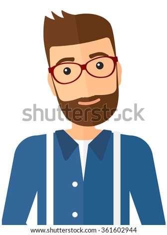 Smiling cheerful man in love. - stock vector