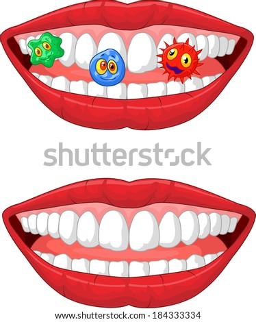 Smiling lip  - stock vector