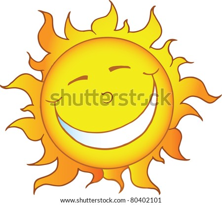 cartoon illustrations smiling sun stock images, royalty-free