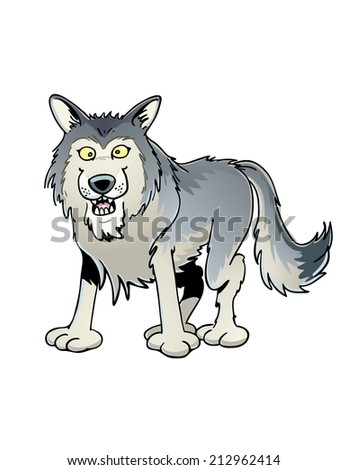 Smiling Wolf - stock vector