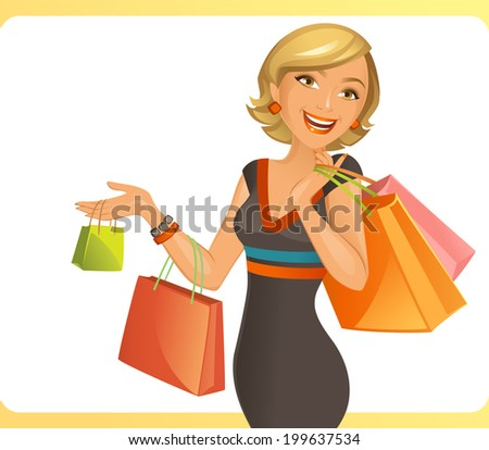 Smiling Woman - stock vector