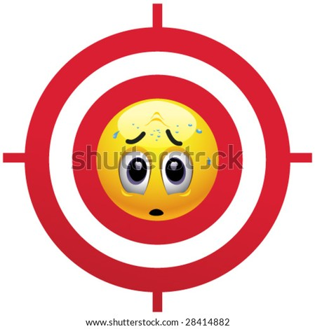 Smillng ball being a target - stock vector