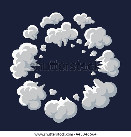 Clouds Smoke Vector On Transparent Background Stock Vector ...