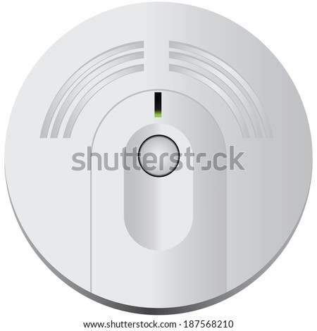 Smoke detector for industrial and domestic use. Vector illustration. - stock vector