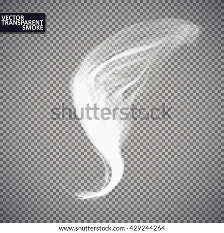Smoke isolated transparent, abstract vector eps10. Magic Illustration - stock vector