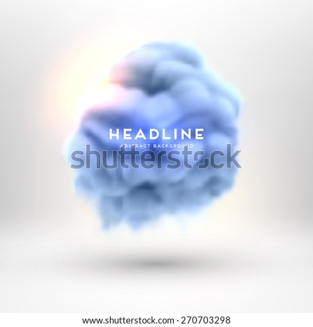 Smoke or Cloud and Fire. Special Effects. Abstract Background for Modern Design. Vector Illustration. - stock vector