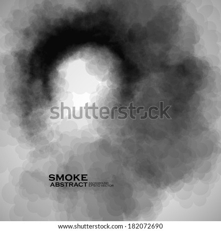 Smoke vector background. Abstract composition illustration eps10 - stock vector