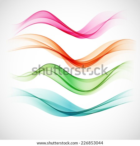Smoke wave background. Vector illustration - stock vector