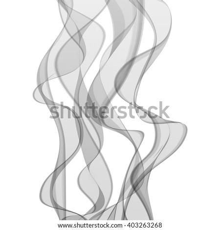 Smoke wavy background - stock vector
