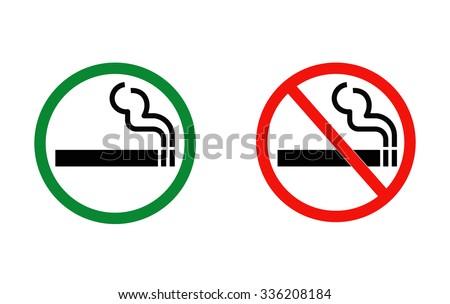 smoking and No smoking vector illustration - stock vector