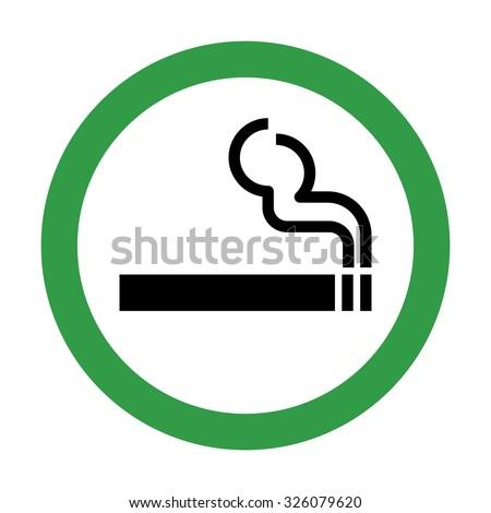 Smoking Area Sign . Vector illustration - stock vector
