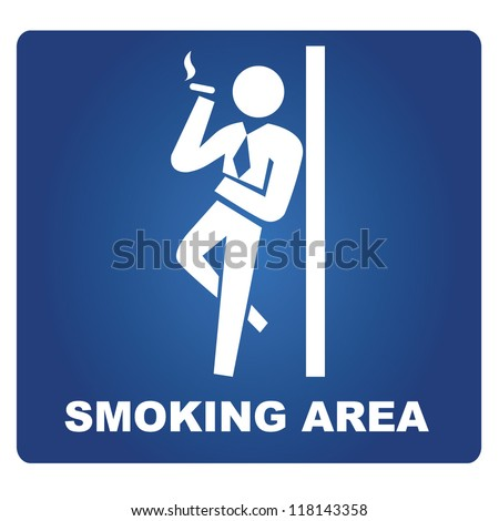 smoking area signage - stock vector