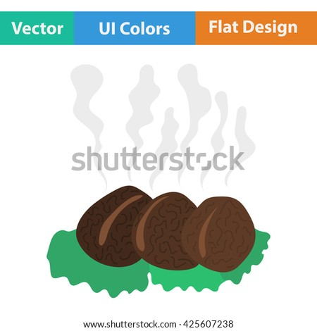 Smoking cutlet icon.  Vector illustration. - stock vector