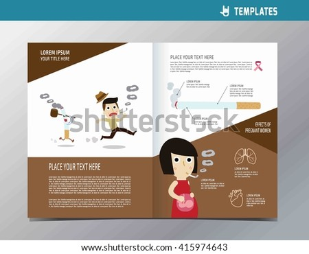 Smoking Flyer Template A4 Size Design Infographic Stock Vector