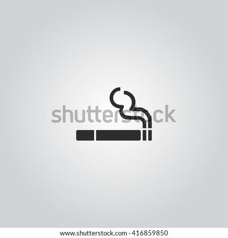 Smoking icon vector - stock vector