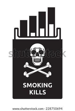 Smoking kills - stock vector