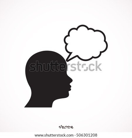 Smooth Blue Person Thinking toolbar pictogram. Vector pictogram style is a flat symbol on chess transparent background.