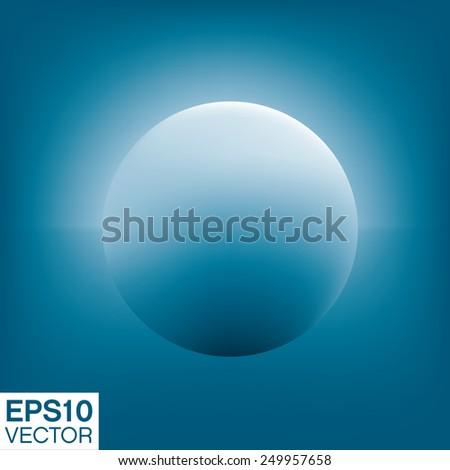 Smooth blue sphere. Vector art - stock vector