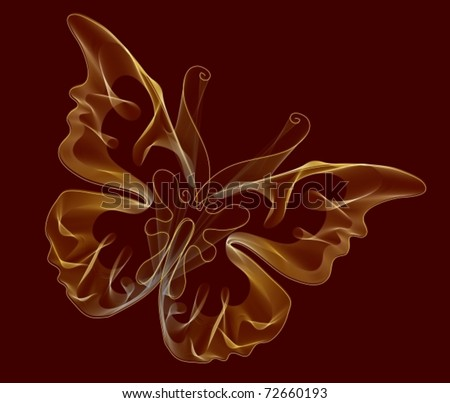 Smooth butterfly. EPS10. Vector Background - stock vector