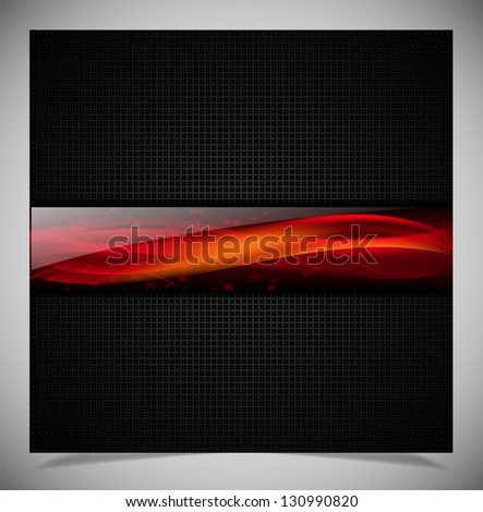 Smooth colorful abstract techno background. Vector illustration - stock vector