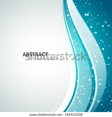 Smooth Curve Lines Modern Blue Background. Wave design - stock vector
