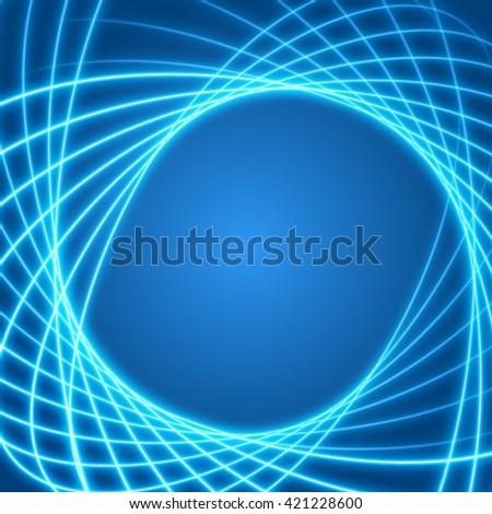 Smooth light blue waves lines vector abstract background. Good for promotion materials, brochures, banners. Abstract Backdrop, Technology Background. Glowing effects. - stock vector