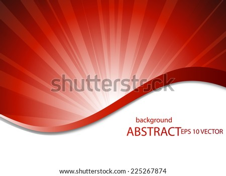 Smooth lines. Abstract background - stock vector