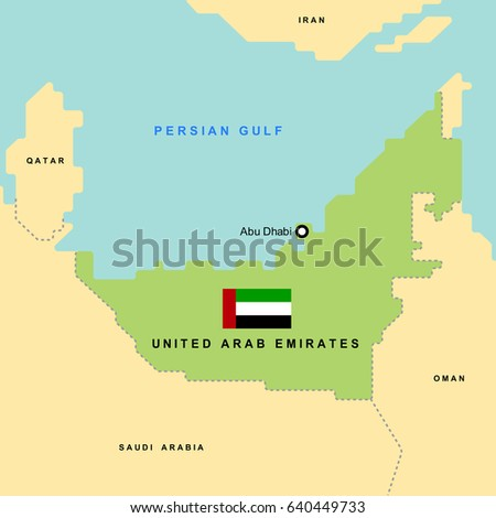 smooth map of united arab emirates and its neighboring countrieseps10 art vector