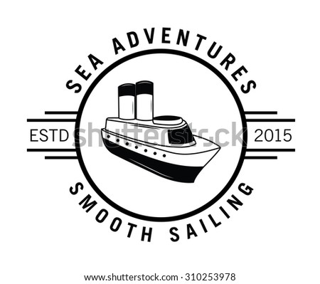Smooth sailing label badge - stock vector