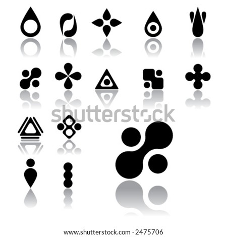 smooth shape icons (light version) - stock vector