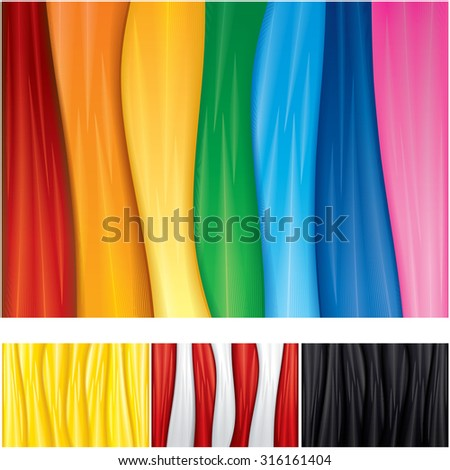 Smooth Textile Vector Backgrounds. Ready for Your Text and Design. - stock vector