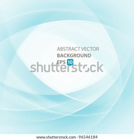 Smooth twist light lines vector background. Eps 10. - stock vector